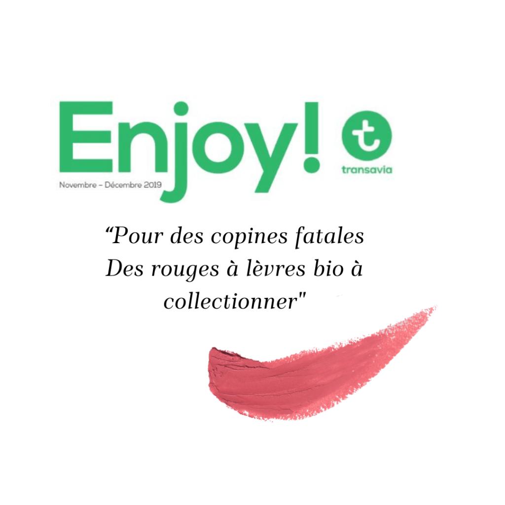 Loesia - Maquillage biologique et naturel fabriqué en France publié dans le magazine Transavia