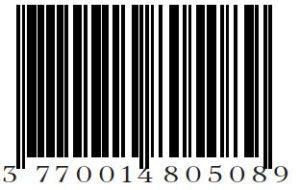 Loesia - Rouge à lèvres Le Cerise N°107 - Code Barre - EAN 3770014805089 - Loesia maquillage biologique et naturel fabriqué en France. Premier Rouge à lèvres français 100% naturel et hydratant
