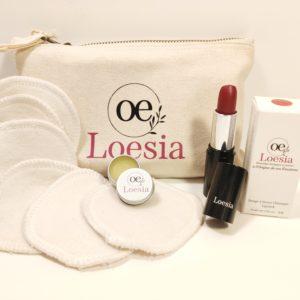 Loesia - Assortiment de douceur - Bras - Loesia maquillage biologique et naturel fabriqué en France. Premier Rouge à lèvres français 100% naturel et hydratant