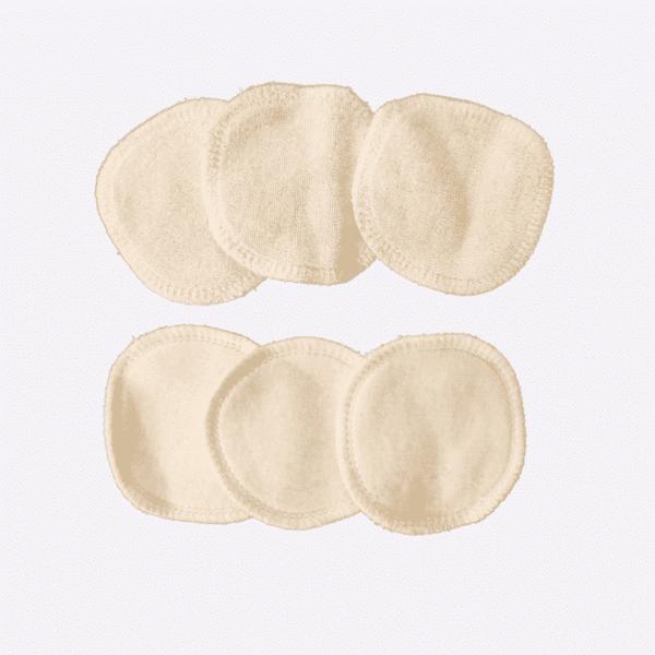 Loesia lot de 6 lingettes démaquillante réutilisables en coton bio