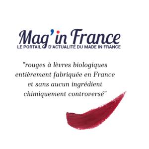 Loesia - Maquillage biologique et naturel fabriqué en France publié dans le magazine Mag in France