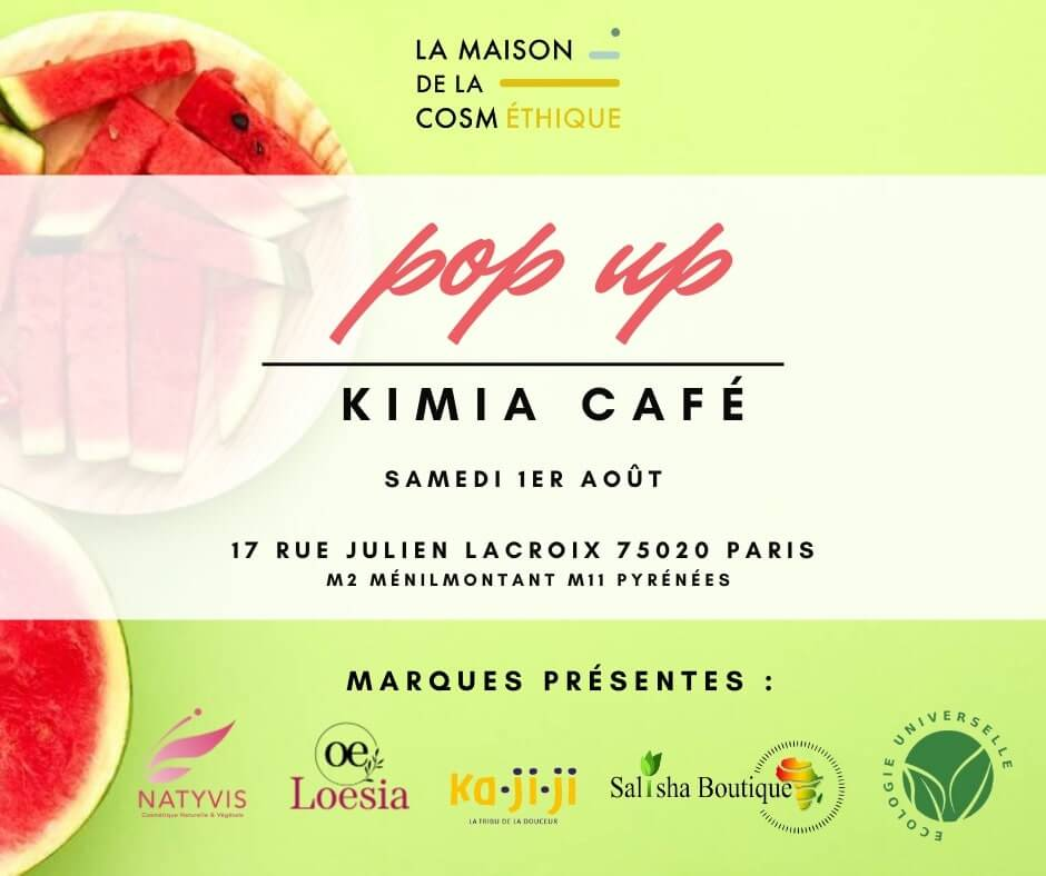Pop up Kimia café - 1er Août 2020 - Loesia