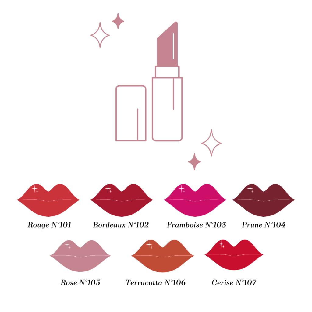 Choix du Rouge à lèvres Loesia, maquillage biologique et naturel, Premier Rouge à lèvres français naturel et hydratant