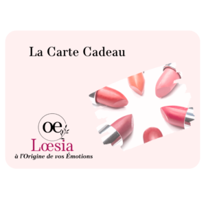 Loesia - La Carte Cadeau - Loesia maquillage biologique et naturel fabriqué en France. Premier Rouge à lèvres français 100% naturel et hydratant