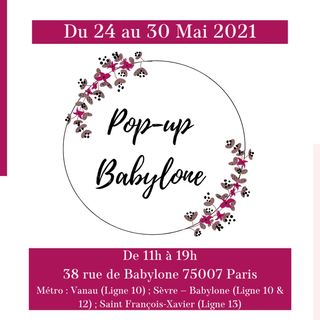 Loesia au Pop-Up Babylone à Paris du 24 au 30 mai 2021