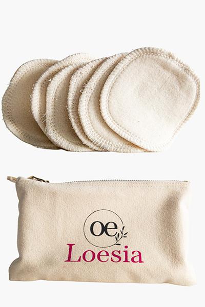 Loesia maquillage biologique et naturel fabriqué en France. Accessoires en coton