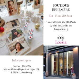 Loesia boutique éphémère rue médicis à paris