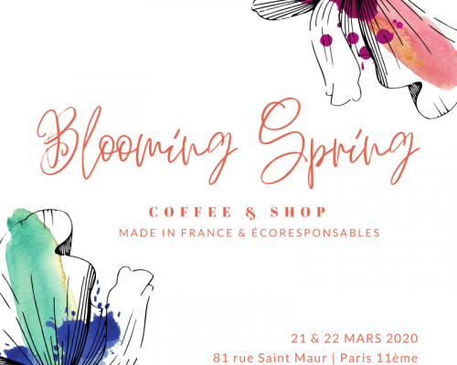 Carré Blooming Spring - coffee shop